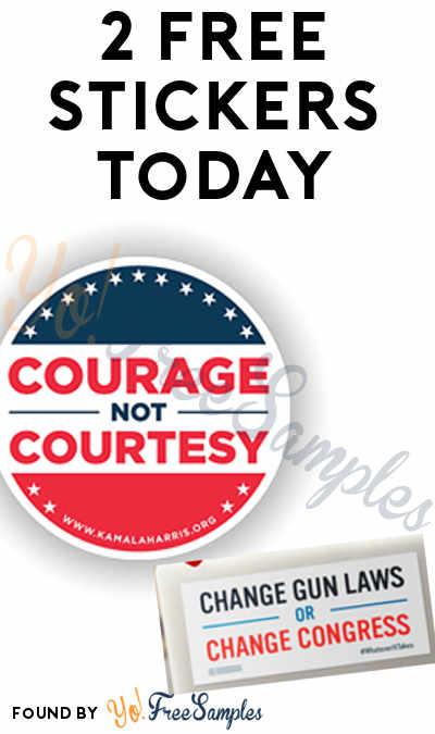 2 FREE Stickers Today: Change Gun Laws Bumper Sticker & Courage Not Courtesy Sticker