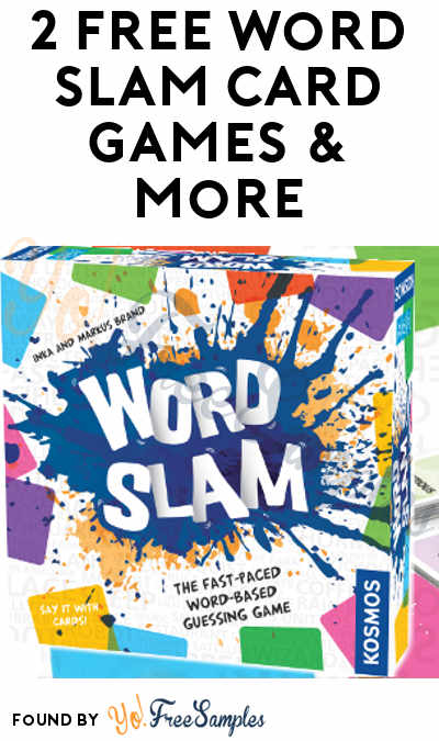 2 FREE Word Slam Card Games & More (Must Apply To Host Tryazon Party)