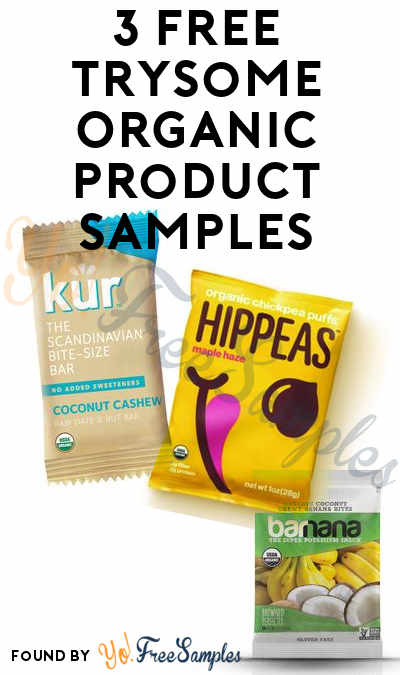 Nearly 3 FREE TrySome Organic Product Samples ($1.99 Shipping)