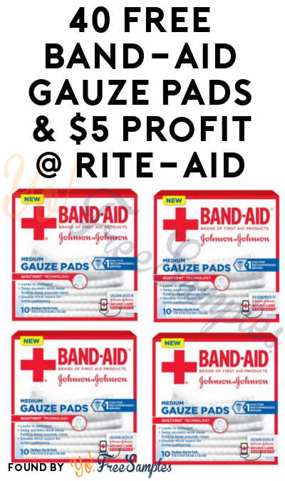 40 FREE Band-Aid Gauze Pads & $5 Profit At Rite-Aid (Coupon Required)
