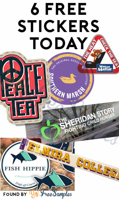 4 FREE Stickers Today: Peace Tea Stickers, In The Heat, Check The Seat Decals, Southern Marsh Stickers, Elmira College Decal, Fighting Child Hunger Decal & Fish Hippie Stickers