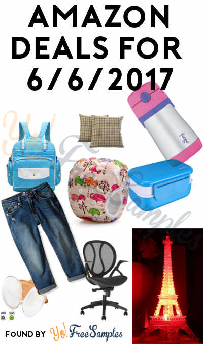 DEALS ALERT: Eiffel Tower Nightlight, Waterproof Baby Nappy Bag, Bento Lunch Box, Cushion covers, Girls Jeans, Reusable Baby Water Diapers, Straw Bottle, Makeup Blenders & LANGRIA Ergonomic Executive Office Chair For Amazon 6/6/2017