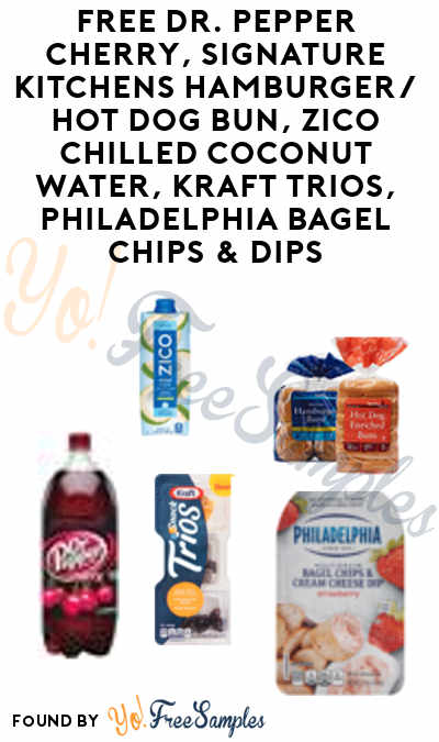 FREE Dr. Pepper Cherry, Signature Kitchens Hamburger/Hot Dog Bun, Zico Chilled Coconut Water, Kraft Trios, Philadelphia Bagel Chips & Dips (Varies By Store) At Jewel-Osco, Shaws, Star Market or Acme Markets