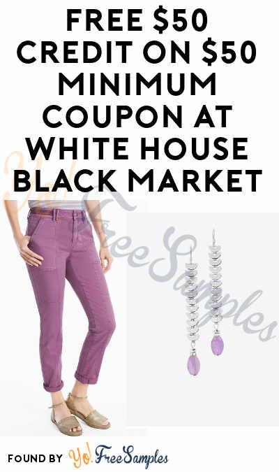 FREE $50 Credit On $50 Minimum Coupon At White House Black Market (Facebook Required)