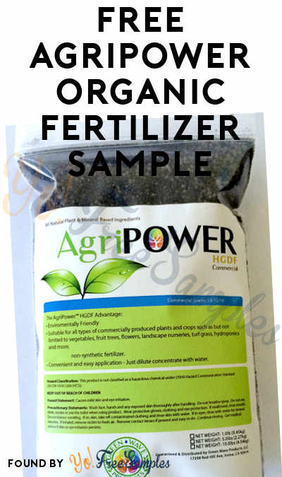 FREE AgriPOWER Organic Fertilizer Sample