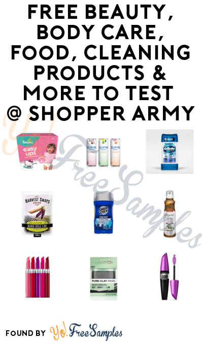 FREE Beauty, Body Care, Food, Cleaning Products & More To Test From Shopper Army [Verified Received By Mail]