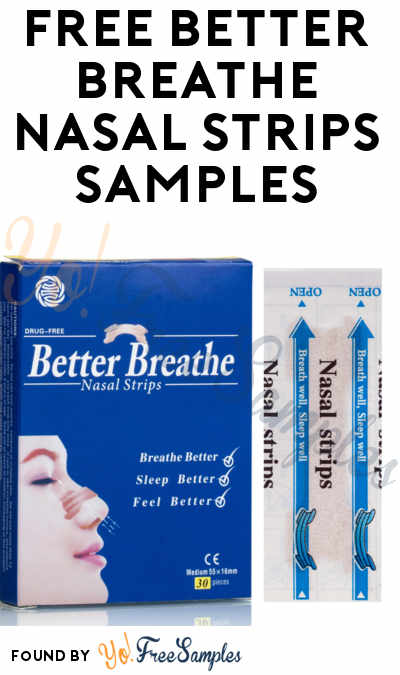 FREE SnoreBore Better Breathe Nasal Strips Samples