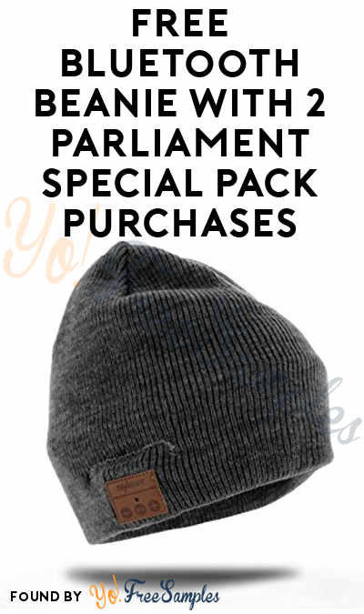 FREE Bluetooth Beanie With 2 Parliament Special Pack Purchases