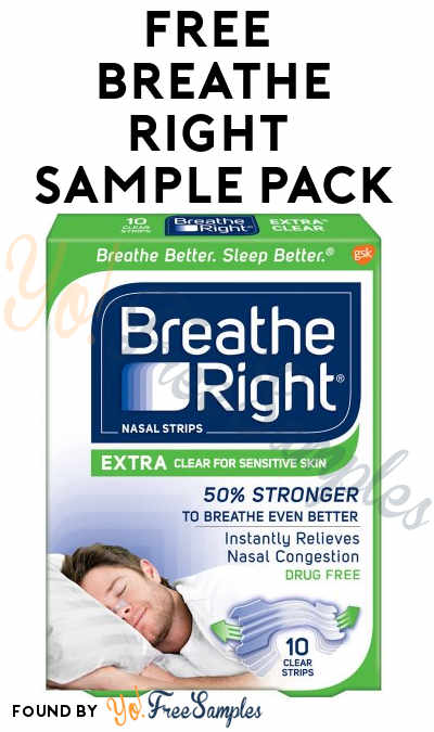 FREE Breathe Right Sample Pack From Home Tester Club (Survey Required)