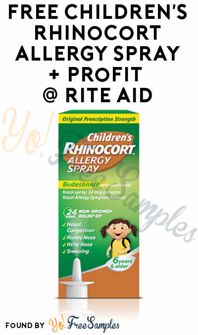 FREE Children's Rhinocort Allergy Spray At Rite Aid (Coupon Required)