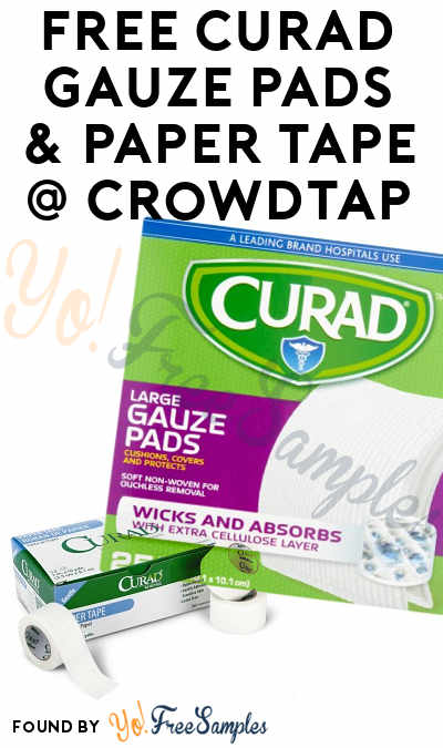 FREE Curad Gauze Pads & Paper Tape From CrowdTap (Mission Required)