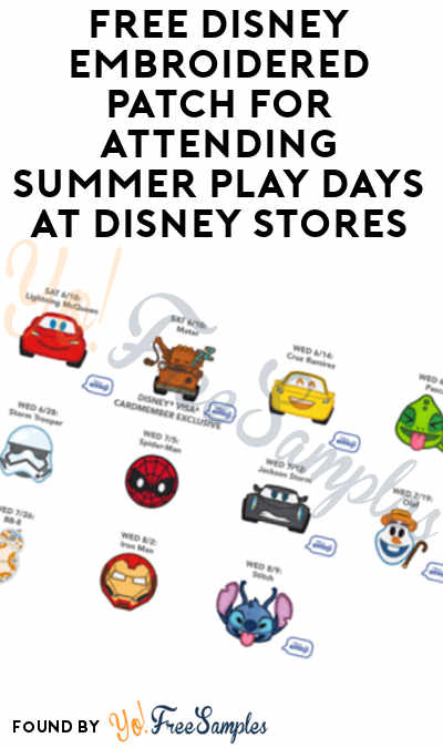 FREE Disney Embroidered Patch For Attending Summer Play Days At Disney Stores