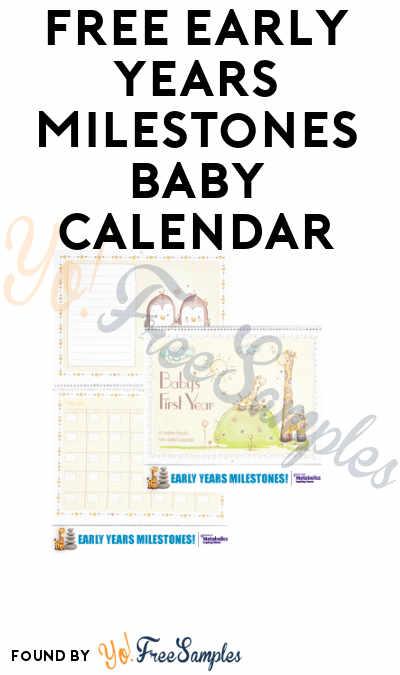 FREE Early Years Milestones Baby Calendar