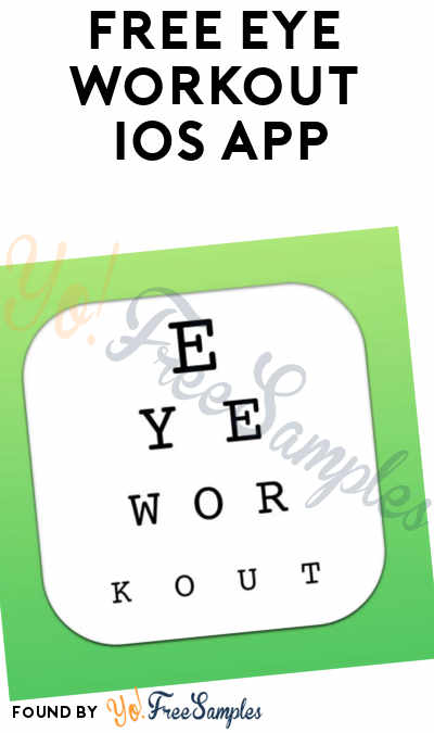 FREE Eye Workout iOS App (Normally $4.99)