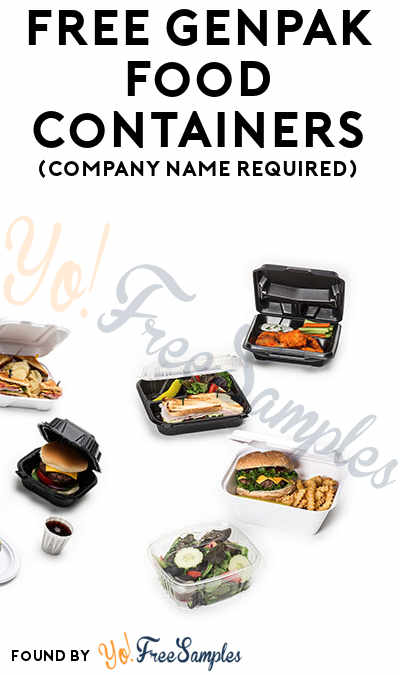 FREE Genpak Food Containers (Company Name Required)