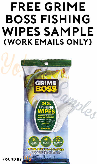 FREE Grime Boss Fishing Wipes Sample (Work Emails Only)