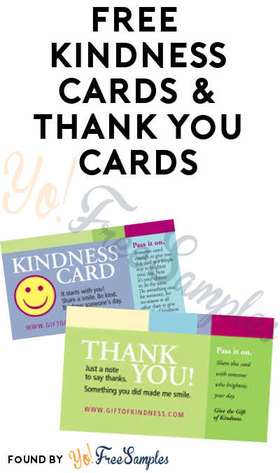 FREE Kindness Cards & Thank You Cards