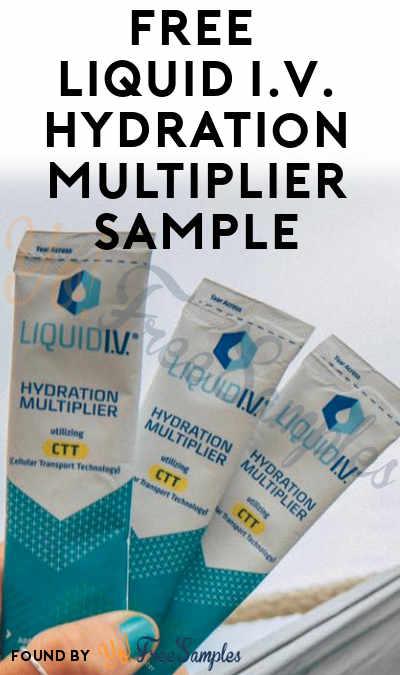 FREE Liquid I.V. Hydration Multiplier Sample (Facebook Required)