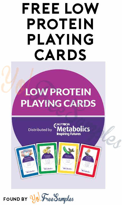 FREE Low Protein Playing Cards