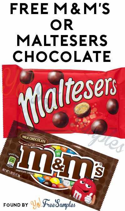 TODAY ONLY: FREE M&M's or Maltesers Chocolate At Farm Fresh, Hornbachers, Shop 'N Save, Shoppers & Cub Stores