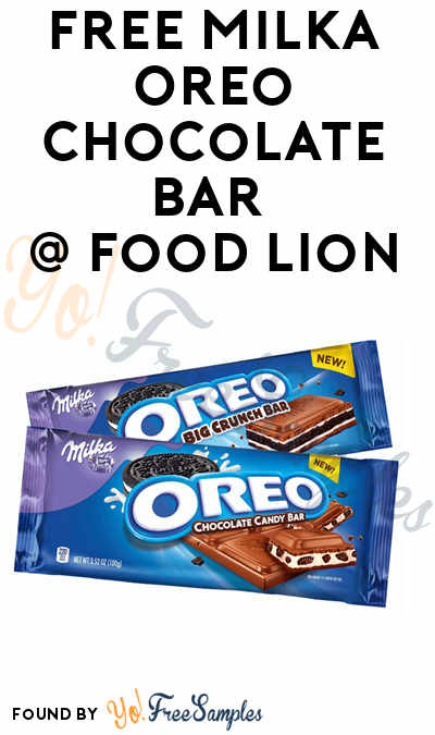 FREE Milka Oreo Chocolate Bar 1.44 oz Coupon (Food Lion MVP Members)