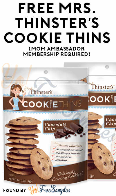 FREE Mrs. Thinster's Cookie Thins (Mom Ambassador Membership Required)