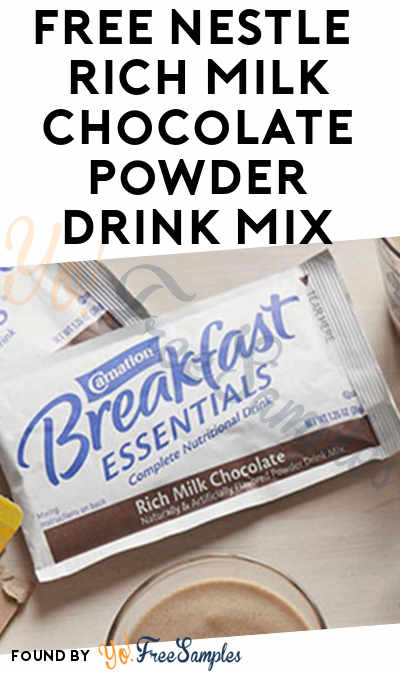 Back In Stock: FREE Nestle Carnation Breakfast Essentials Rich Milk Chocolate Powder Drink Mix [Verified Received By Mail]
