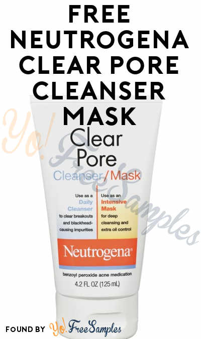 FREE Neutrogena Clear Pore Cleanser Mask From Home Tester Club (Survey Required)