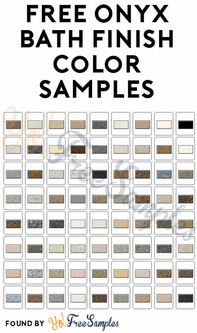FREE Onyx Bath Finish Color Samples