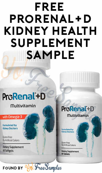 FREE ProRenal+D Kidney Health Supplement Sample
