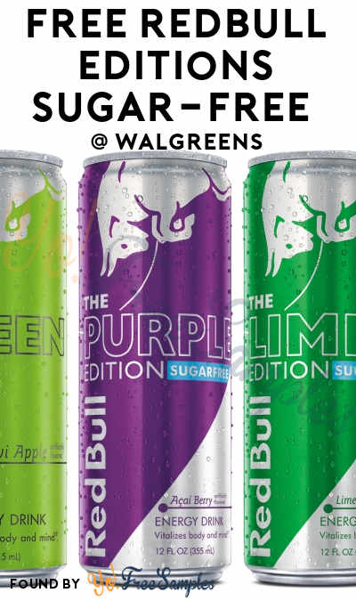 FREE Red Bull Editions Sugar-Free Can At Walgreens (Mobile Number Required)