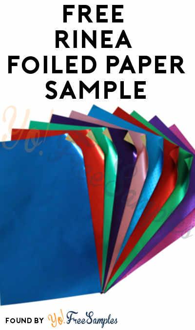 FREE Rinea Foiled Paper Sample