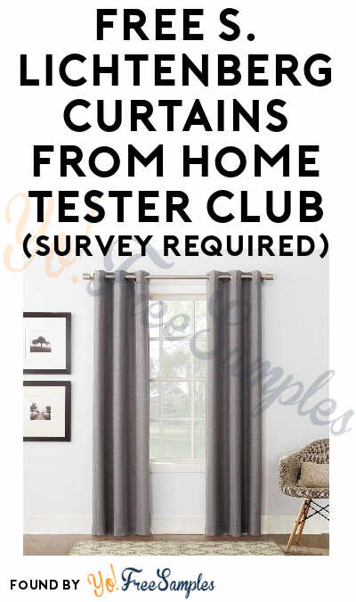 FREE S. Lichtenberg Curtains From Home Tester Club (Survey Required)