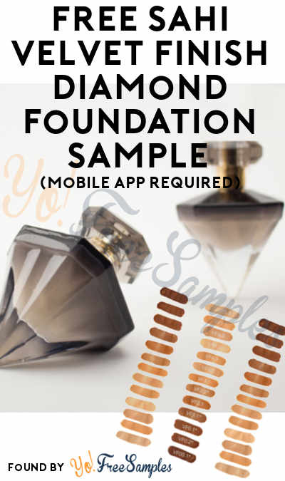 FREE SAHI Velvet Finish Diamond Foundation Sample (Mobile App Required) [Verified Received By Mail]