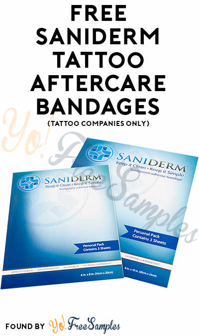 FREE Saniderm Tattoo Aftercare Bandages (Tattoo Companies Only) [Verified Received By Mail]