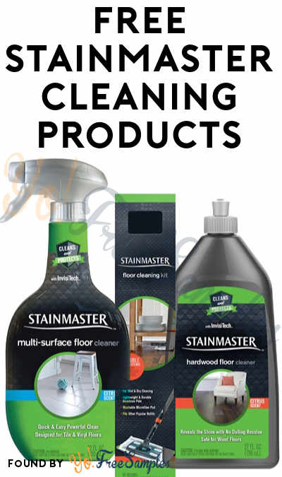 FREE Stainmaster Hardwood Floor Cleaner, Multi Surface Cleaner Or Floor  Cleaning Kit From Home