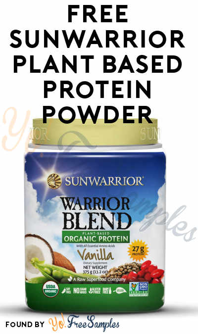 FREE Sunwarrior Plant Based Protein Powder At Social Nature (Survey Required) [Verified Received By Mail]