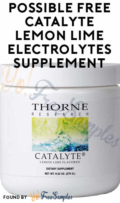 Possible FREE Catalyte Lemon Lime Electrolytes Supplement From BzzAgent