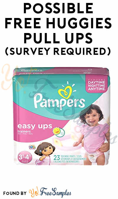Possible FREE Huggies Pull Ups (Survey Required)