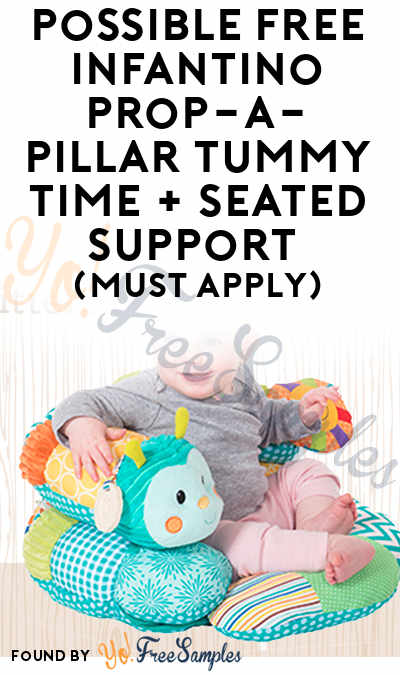 Possible FREE Infantino Prop-a-Pillar Tummy Time and Seated Support (Must Apply)