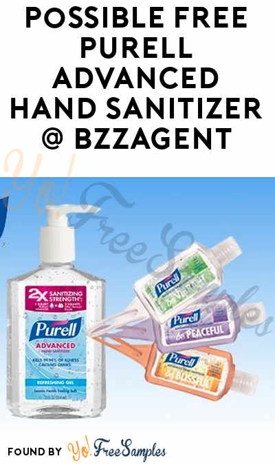 Possible FREE PURELL Advanced Hand Sanitizer From BzzAgent