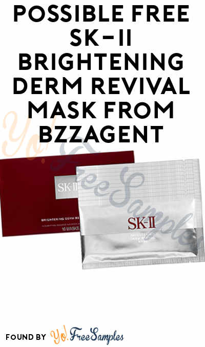 Possible FREE SK-II Brightening Derm Revival Mask From BzzAgent