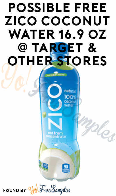 Possible FREE Zico Coconut Water 16.9 oz At Target & Other Stores (Ibotta Required)