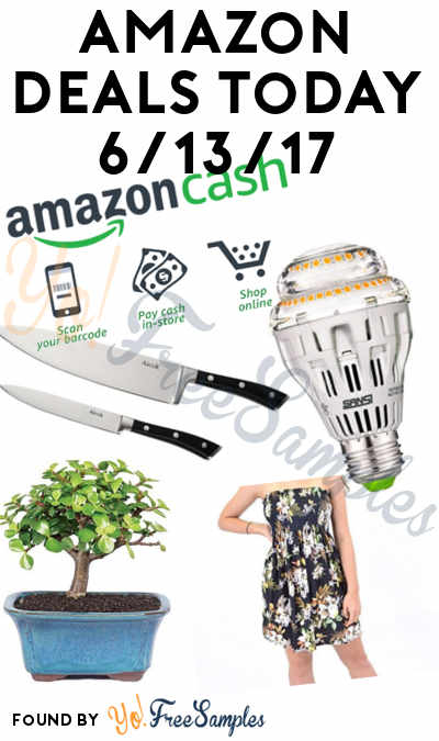 DEALS ALERT: $10 Amazon Cash, Aicok Stainless Steel 8-Inch Chef Knife + Paring Knife, Short Women's Tunic, Ceramic Light Bulb & Bonsai Tree For Amazon 6/13/2017