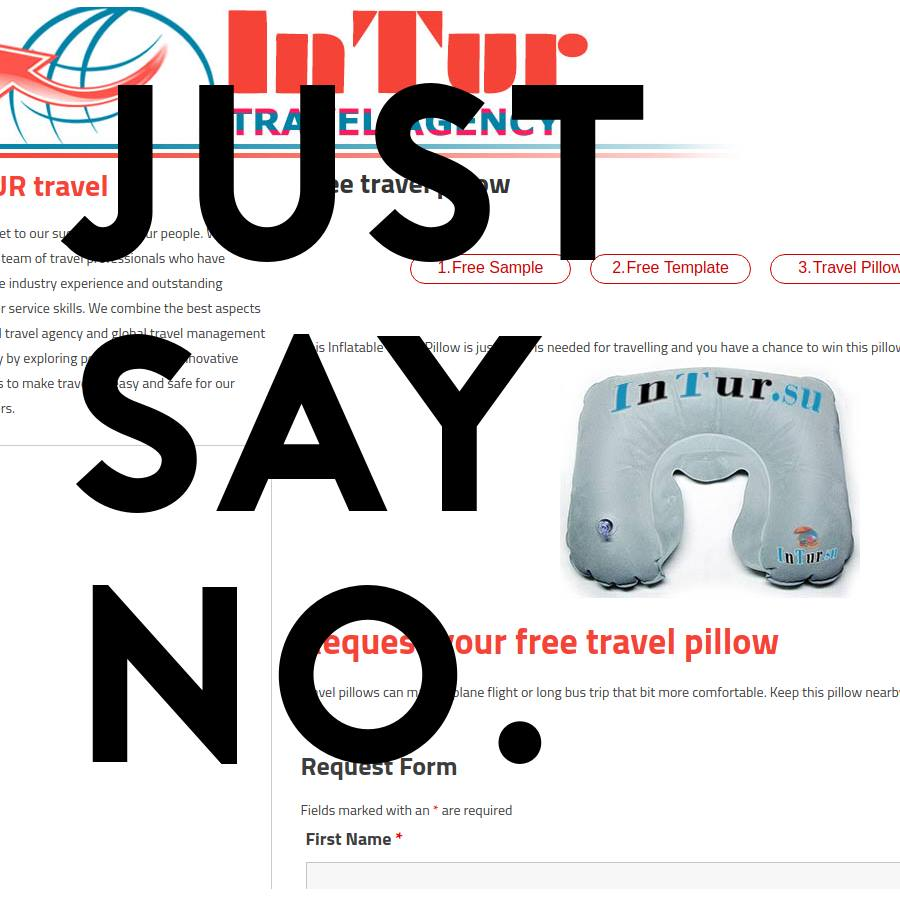 FAKE ALERT: Anything From The InTur Travel Agency Slippers, Cosmetic Bag, Travel Pillow, Pen & Other Offers