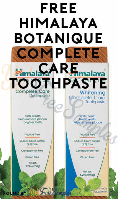 FREE Himalaya Botanique Complete Care Toothpaste (Mom Ambassador Membership Required)