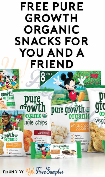 FREE Pure Growth Organic Snacks For You & A Friend