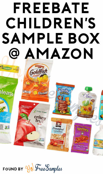 10 FREE Children's Snacks From Amazon Sample Box After Rebate For Amazon Prime Members [Verified Received By Mail]