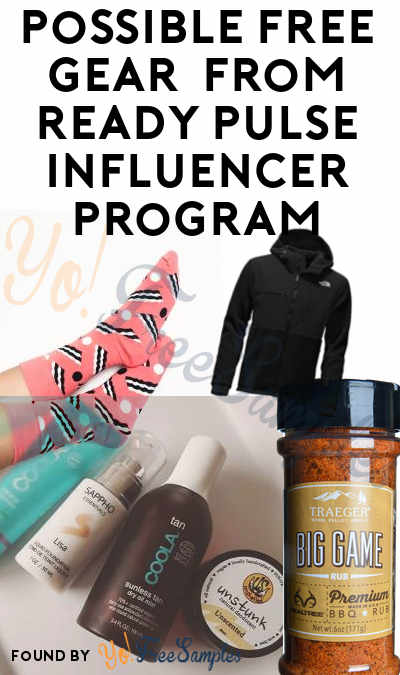 Possible FREE Outdoor, Grilling, Yoga, Hiking, Training, Nutrition & Other Brand Gear From Ready Pulse Influencer Program (Must Apply)