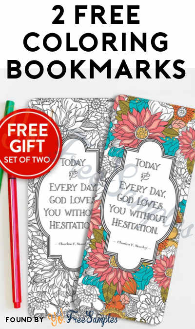2 FREE Coloring Bookmarks From InTouch [Verified Received By Mail]